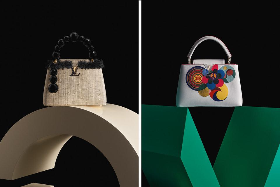 Сумки из новой коллекции Louis Vuitton Artycapucines. На фото – версии художников Жан-Мишеля Отониэля (слева) и  Беатриз Мильязеш