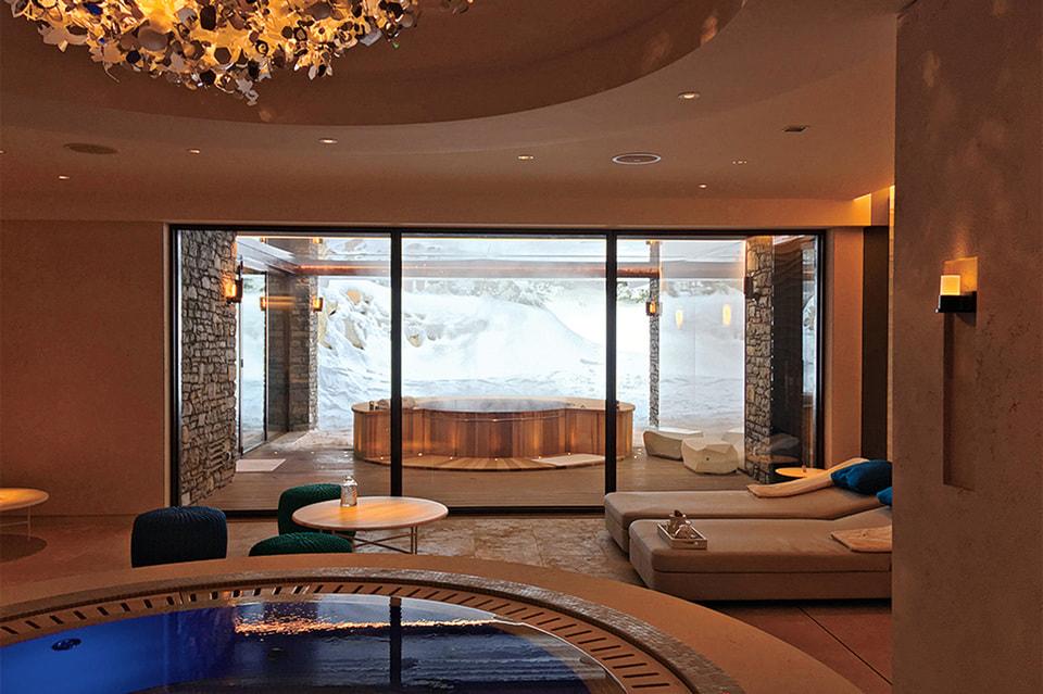 Еще одна работа– отель Cheval Blanc в Куршевеле
