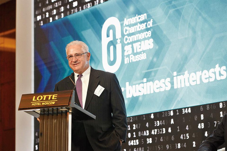 А. О. Родзянко, президент Американской торговой палаты в России, на конференции по случаю 25-летия AmCham