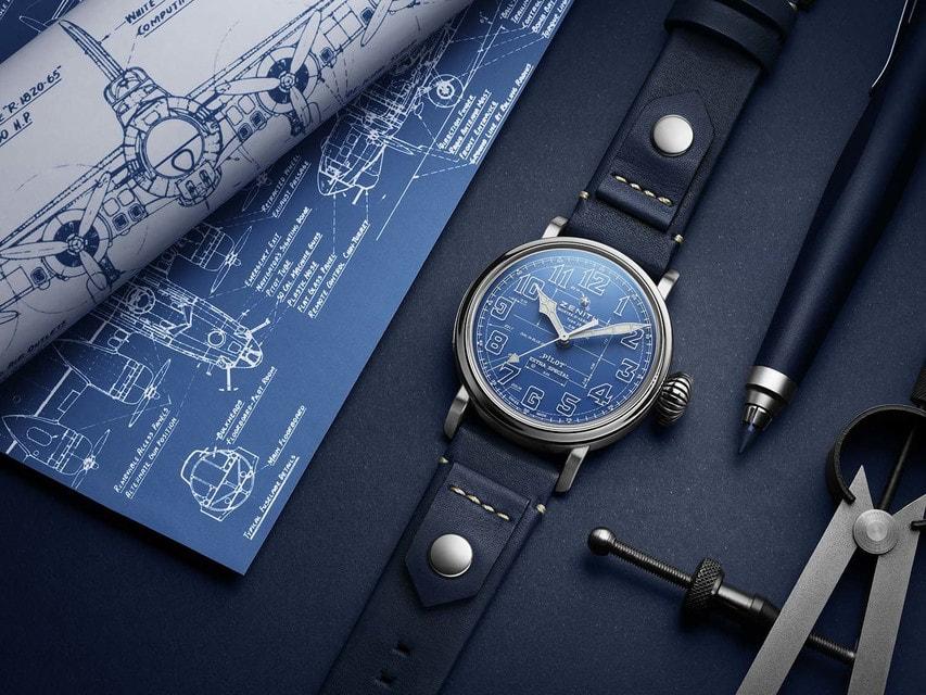 Часы Zenith Pilot Type 20 Blueprint выпущены в количестве 250 экземпляров на весь мир