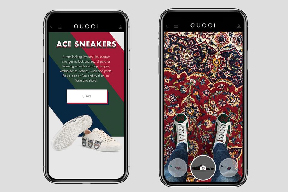 Приложение для виртуальной примерки, кастомизации и покупки кроссовок Gucci