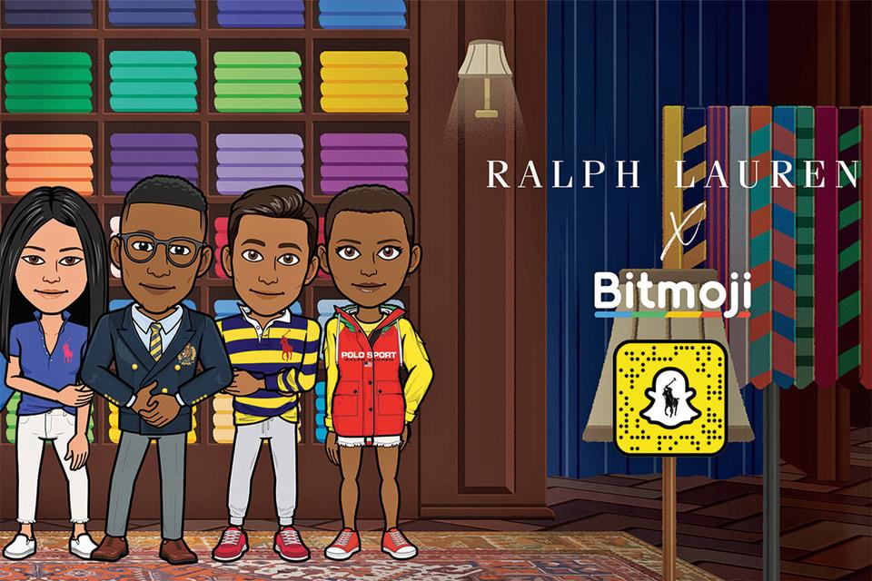 Ralph Lauren представил настраиваемый модный гардероб для Bitmoji