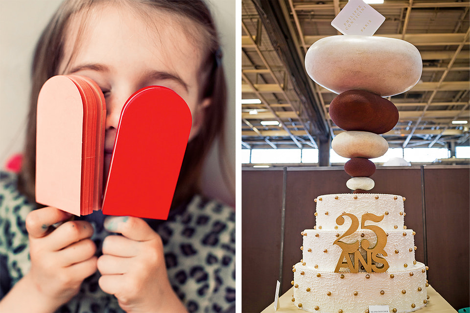 Одна из фантазий маэстро – пирожное в виде пломбира.Торт к юбилею парижского Salon du Chocolat