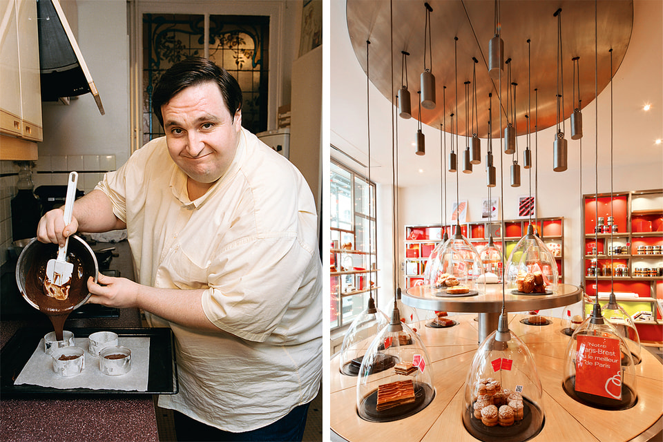 Свой первый магазин Pâtisserie des Rêves Контисини открыл в 2009 году. Пирожные там были представлены под стеклянными колпаками, точно произведения искусства