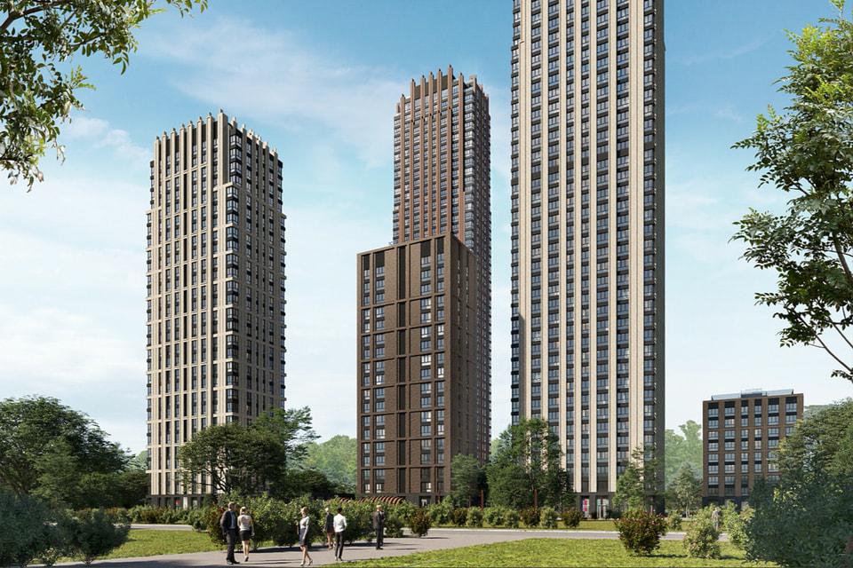 «Вертикальный город» из пяти разноуровневых высотных башен расположился в непосредственной близости от Садового кольца в Даниловском районе Москвы