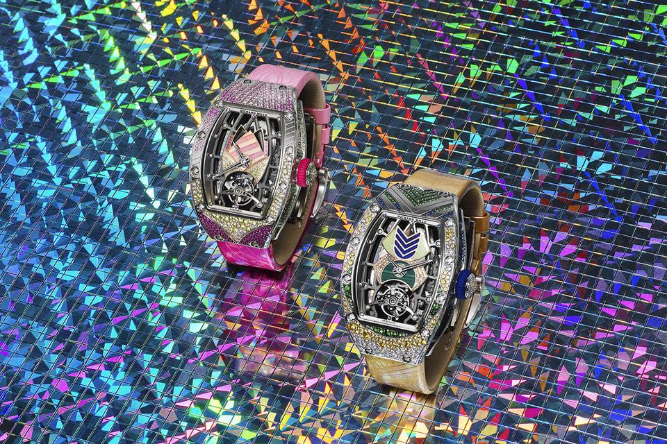 Циферблаты и корпуса новых женских часов RM 71-02 Automatic Tourbillon Talisman украшены орнаментом из десятков видов драгоценных и полудрагоценных камней