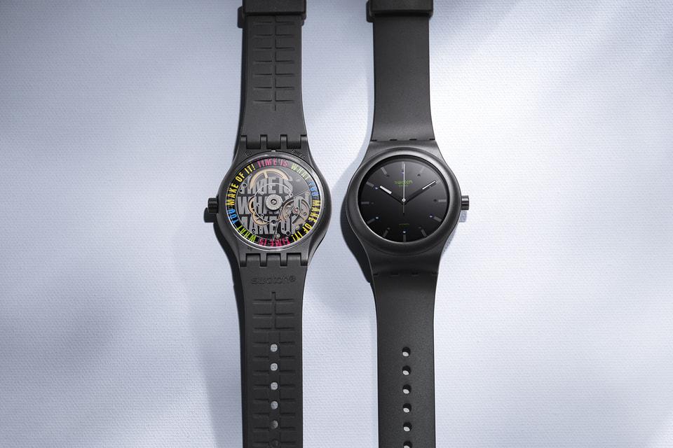 Корпус и ремешок часов Swatch Sistem51 на этот раз созданы из биоматериалов, полученных из семян клещевины