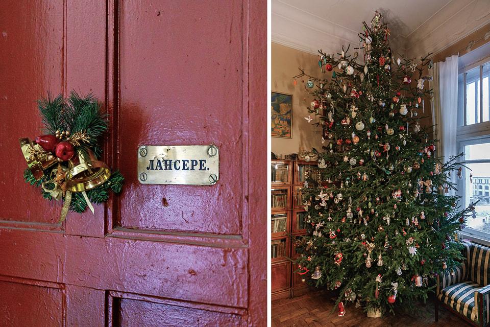 В этой квартире Лансере живут с 1934 г. Елку у Лансере принято наряжать не в Новый год, а на Рождество.