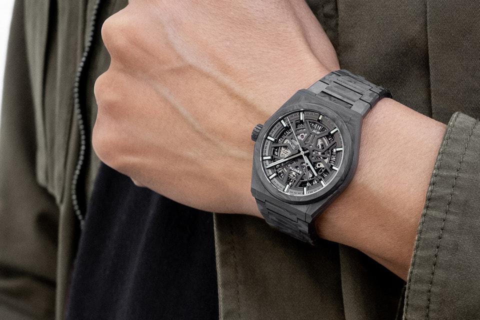 С появлением модели Defy Classic Carbon компания Zenith внедрила авангардный по облику карбоновый браслет в дизайн часов с автоматическим подзаводом