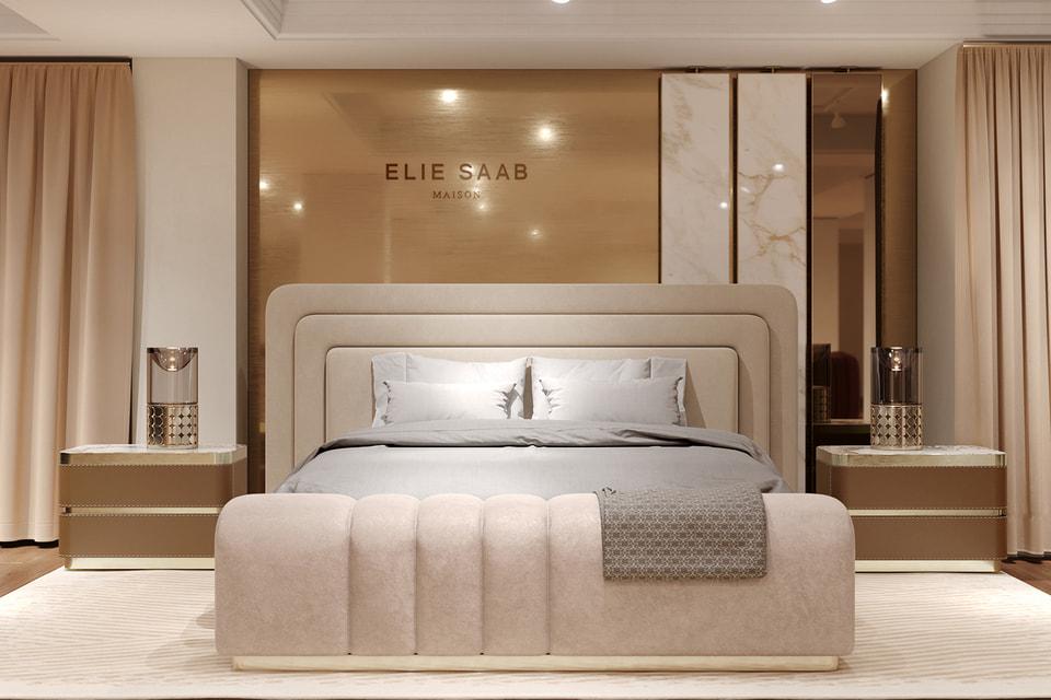 Elie Saab Maison продемонстрирует различные интерьеры: большую гостиную, столовую и спальню