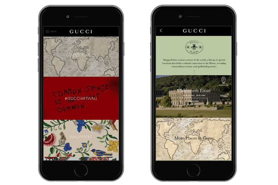 Путеводитель Gucci Places выпущен в форме приложения и разработан при участии креативного директора Дома Алессандро Микеле