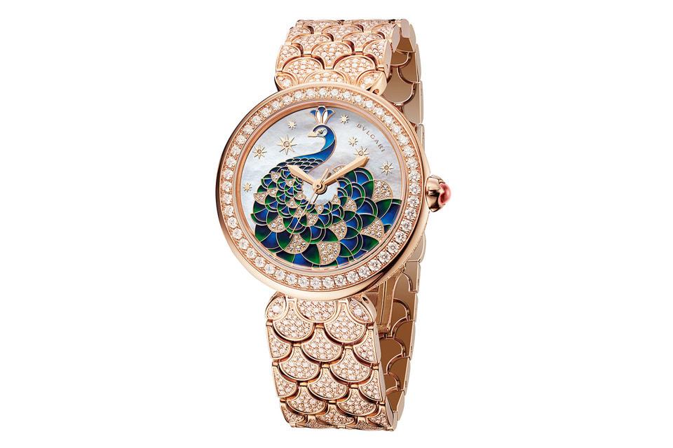 Женские часы Diva Pavone с изображением в технике перегородчатой эмали на циферблате