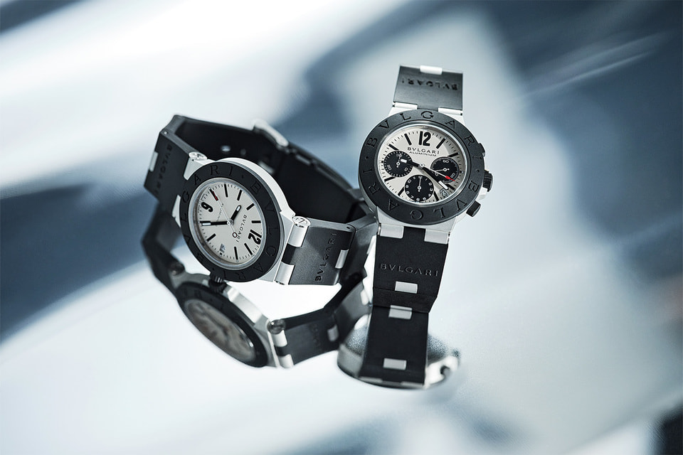 Возрожденные в прошлом году часы Bvlgari Aluminium Chronograph получили в ноябре 2020 года награду Гран-при часового искусства в Женеве в категории Iconiс