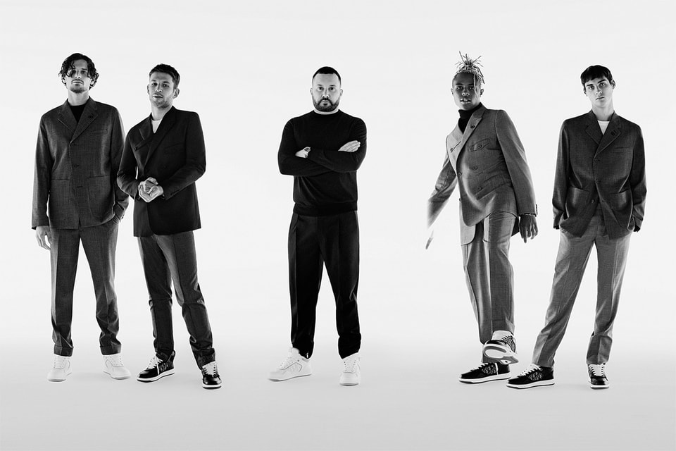 Ким Джонс и друзья Dior – актеры Арно Валуа и Жереми Лаэрта, предприниматель Юнес Бенджима и художник Кайланд Моррис