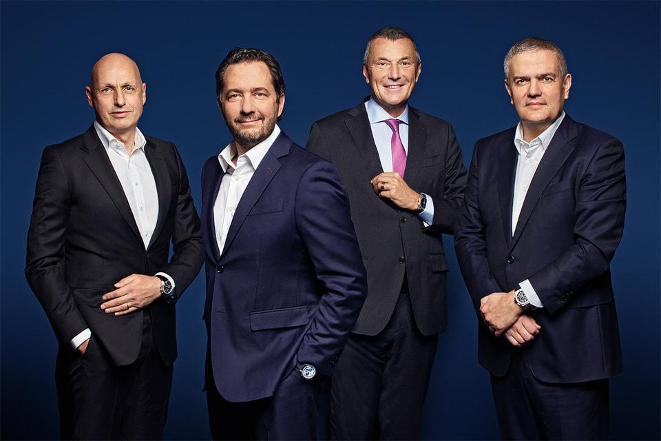 Топ-менеджеры часового дивизиона LVMH Group – Стефан Бьянки, Жюльен Торнар, Жан-Кристоф Бабен, Рикардо Гвадалупе