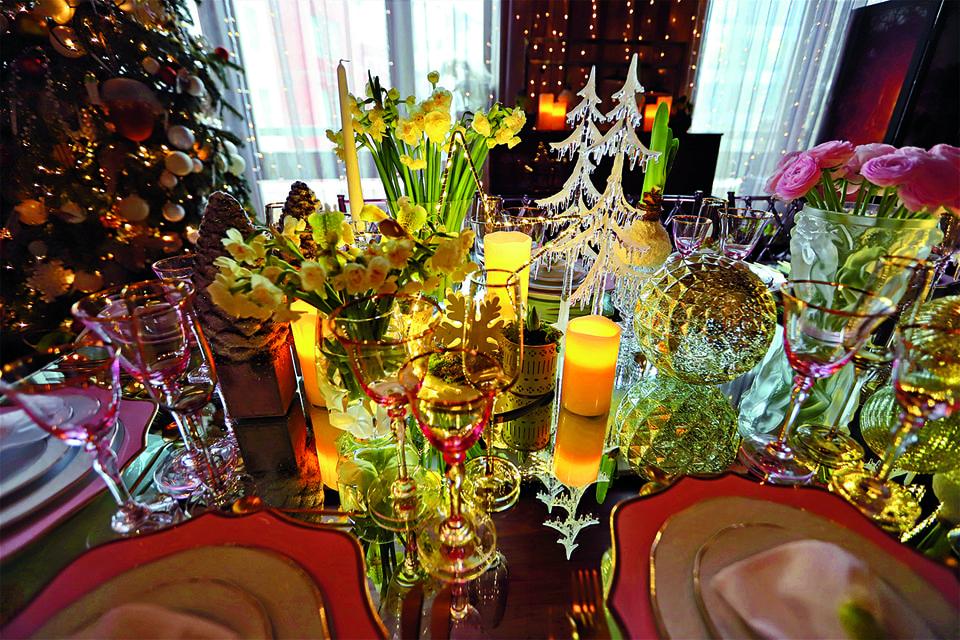 Декор стола для изысканного ужина