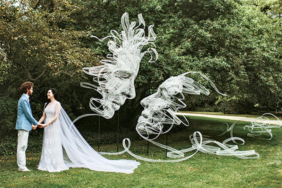 Изображение самого художника и его невесты создано им для своей свадьбы