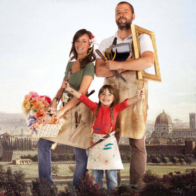 Габриеле со своей семьей