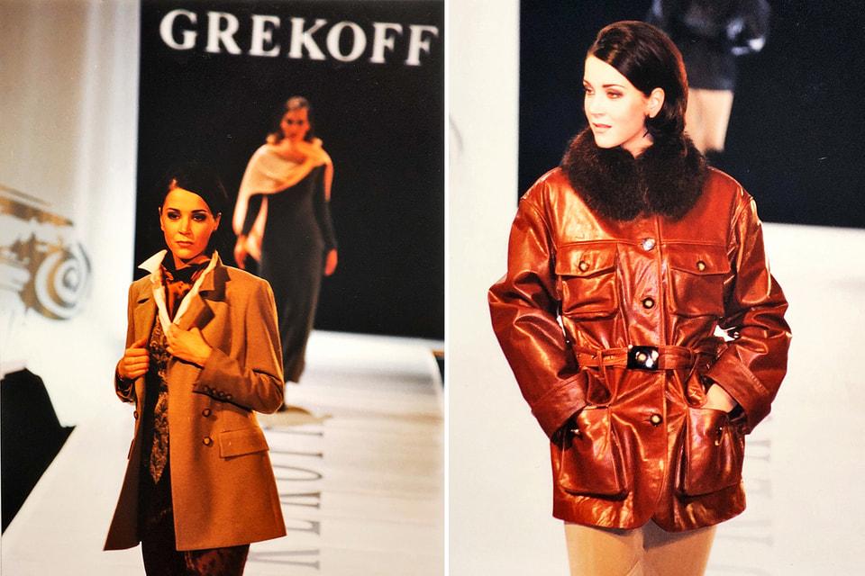 Ирина Дмитракова, модель, актриса, продюсер, теле- и радиоведущая, друг Алексея Грекова, на показе Дома моды Дом Grekoff