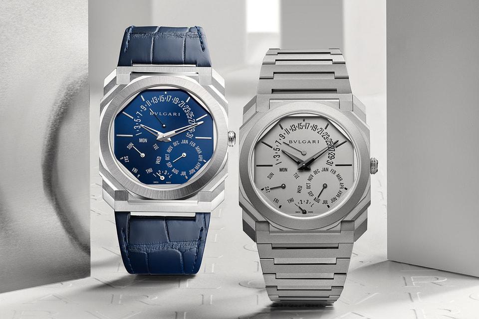 Новые часы-рекордсмены Bvlgari выпущены в фирменном титановом матовом дизайне и в платине