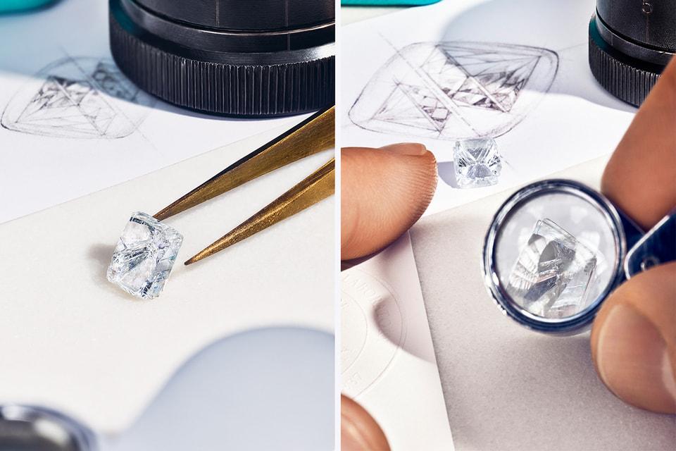 Только 0,04% мировых алмазов ювелирного качества соответствуют строгим требованиям Tiffany & Co. и этот аспект отражен на выставке в нескольких инсталляциях