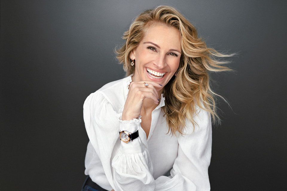 Джулия Робертс в рекламной кампании часов Chopard Happy Sport