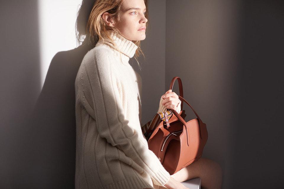 Наталья Водянова – одна из героинь рекламной кампании сумки Loro Piana Sesia