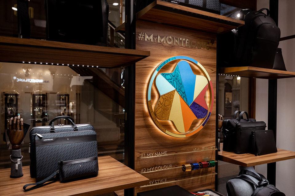 Новый флагманский бутик Montblanc в ГУМе поделен на несколько тематических зон, одна из которых посвящена кожаным аксессуарам бренда