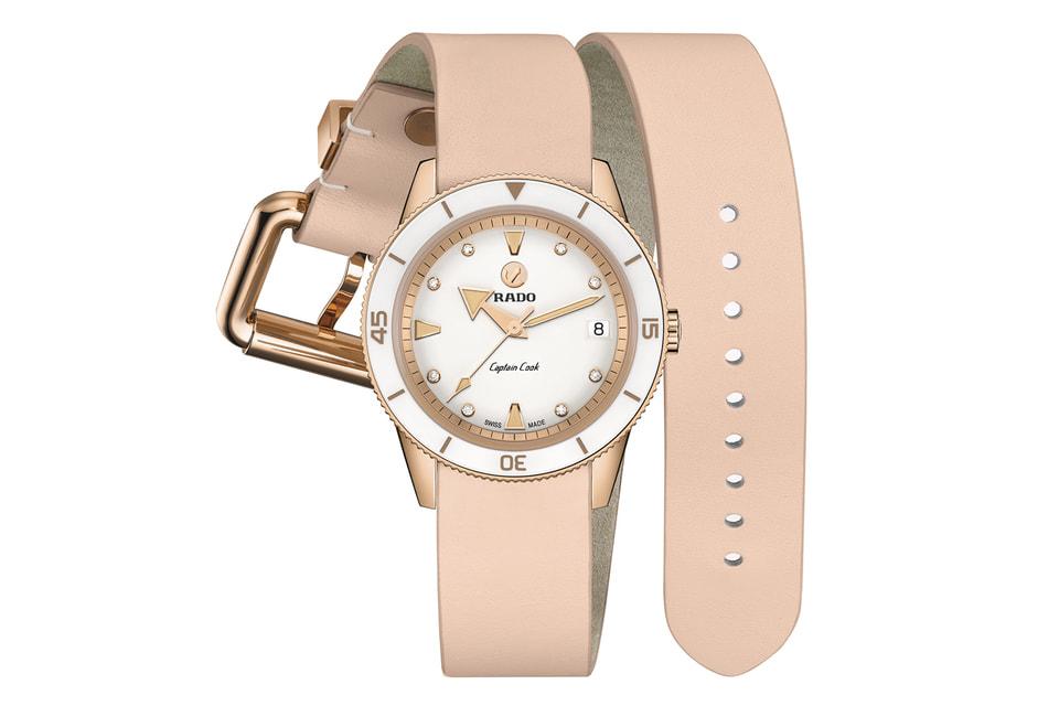 Женские часы Rado Captain Cook x Marina Hoermanseder предлагаются на разных ремешках