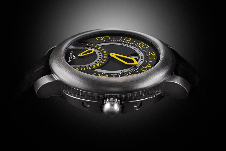 Часы Gérald Genta Arena Bi-Retrograde Sport из самостоятельной коллекции под именем знаменитого часового дизайнера Джеральда Дженты