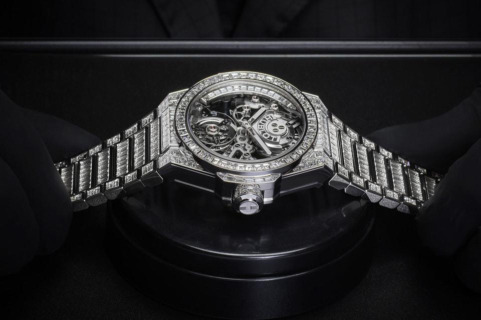 Ювелирные часы Big Bang Integral High Jewellery, полностью декорированные 484 бриллиантами