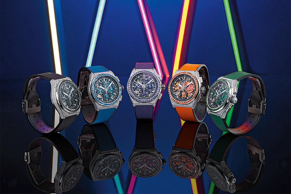 Пять ярких моделей Defy 21 Spectrum с цветными драгоценными камнями