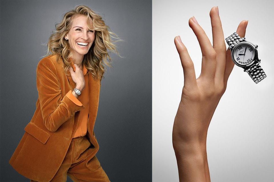 Джулия Робертс в рекламной кампании Chopard по случаю обновления коллекции часов Happy Sport
