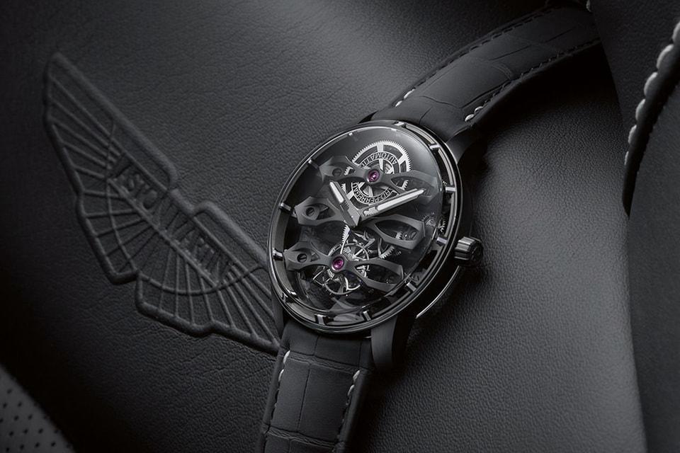 Часы Tourbillon with Three Flying Bridges – Aston Martin Edition – это результат союза швейцарской марки Girard-Perregaux с британским автомобилестроителем Aston Martin