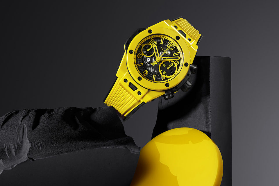 Корпус часов Big Bang Unico Yellow Magic впервые изготовлен из керамики желтого цвета