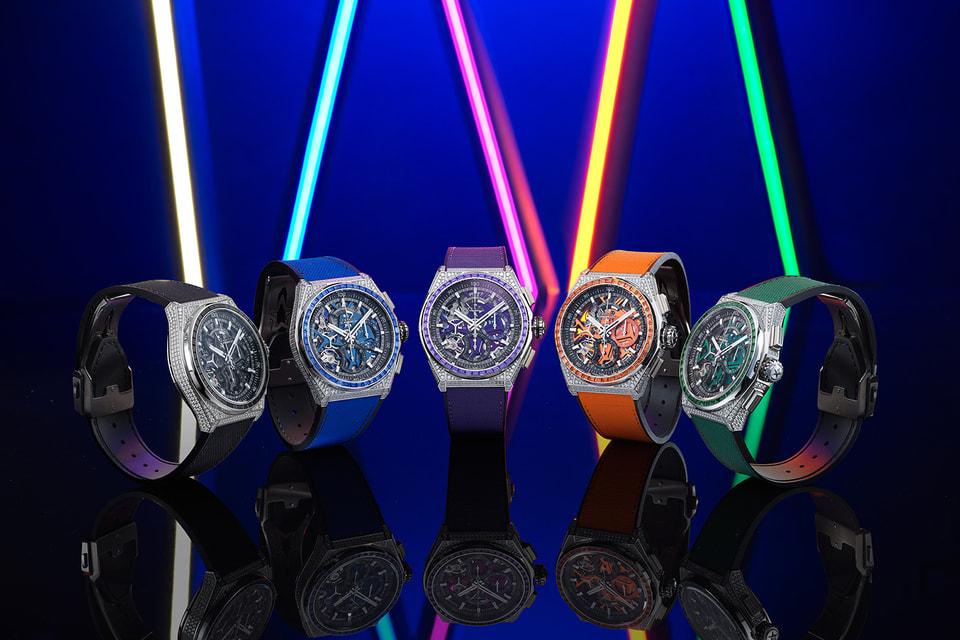 Линия часов Defy 21 Spectrum это пять экстравагантных моделей четырех ярких цветов и одного драматичного черного