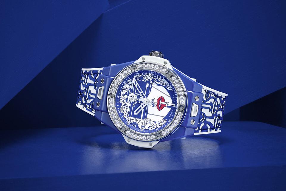 Часы Hublot Big Bang One Click Marc Ferrero Ceramic Blue