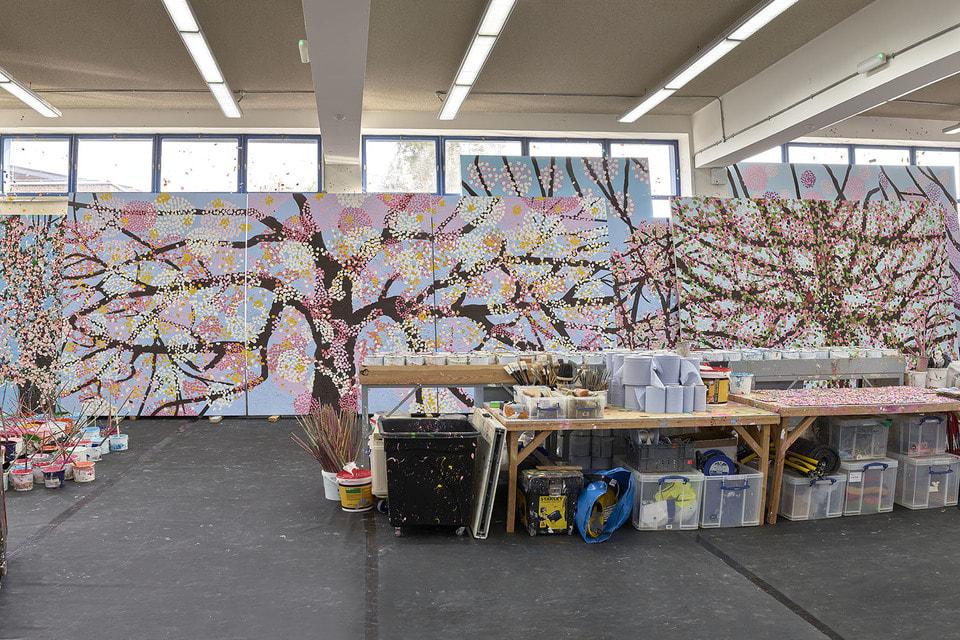 Из 107 холстов проекта Cherry Blossoms лишь 30 будут показаны в Париже