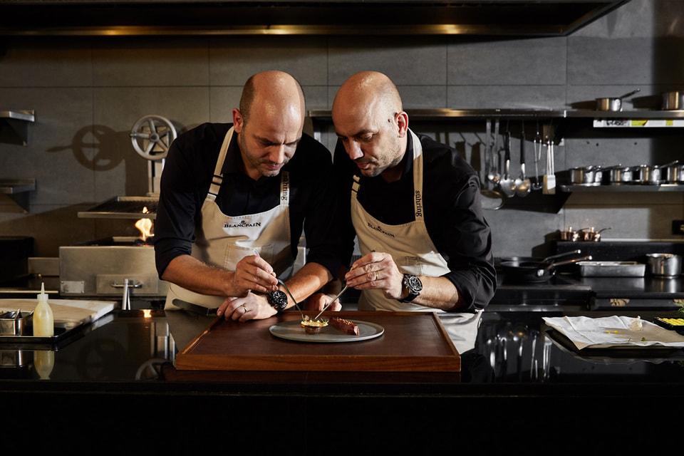 Дважды удостоенные звезды Мишлен шеф-повара братья Зюринг с часами Blancpain на запястье