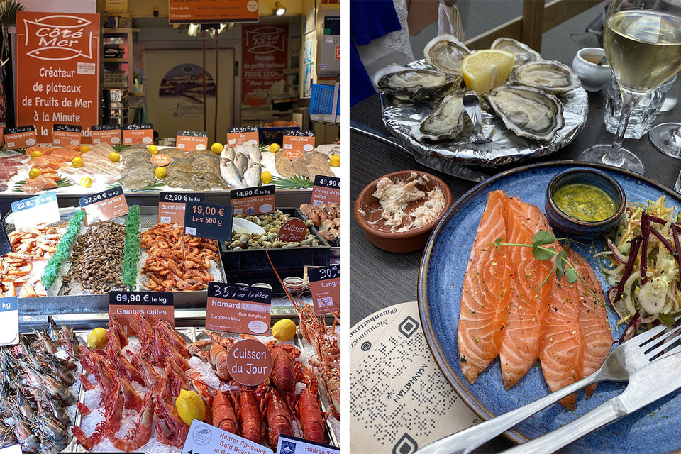 В Трувиле можно вкусно пообедать и купить самые свежие морепродукты