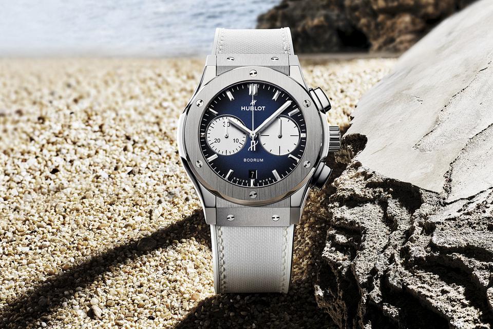 Часы Hublot Classic Fusion Chronograph Boutique Bodrum в сине-белых тонах выпущены в 25 экземплярах
