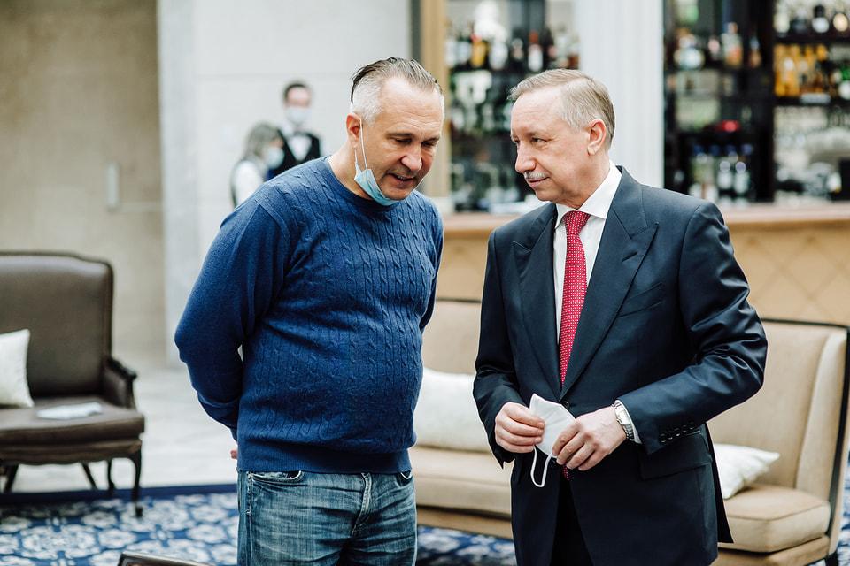 Алексей Ситников и губернатор Санкт-Петербурга Александр Беглов