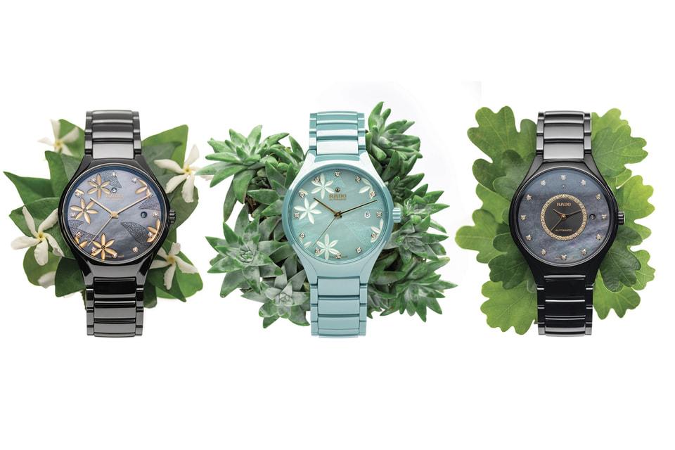 За основу дизайна часов Rado True x Great Gardens of the World взяты жасмин и дуб