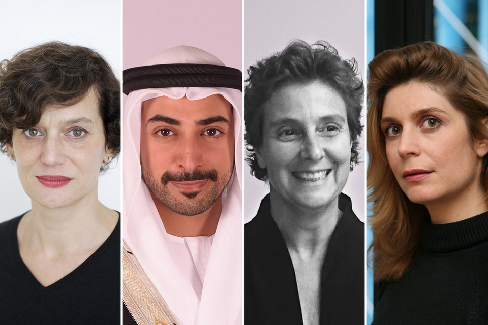 Состав жюри выставки Louvre Abu Dhabi Art Here 2021 и премии The Richard Mille Art Prize: Сурайя Нужейм, шейх Халифа ибн Султан ибн Халифа ибн Заид аль-Нахайян, Хала Варде и Кристин Масель