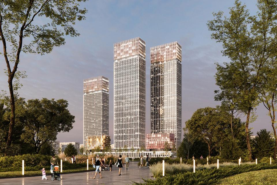 Все башни жилого комплекса носят имена великих писателей-модернистов