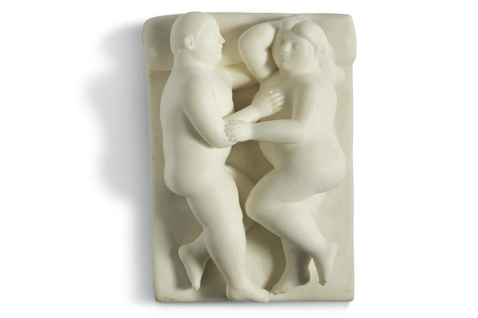 Мраморная скульптура Фернандо Ботеро «Пара» предварительно оценивается специалистами Christie's в €200 000 – 400 000
