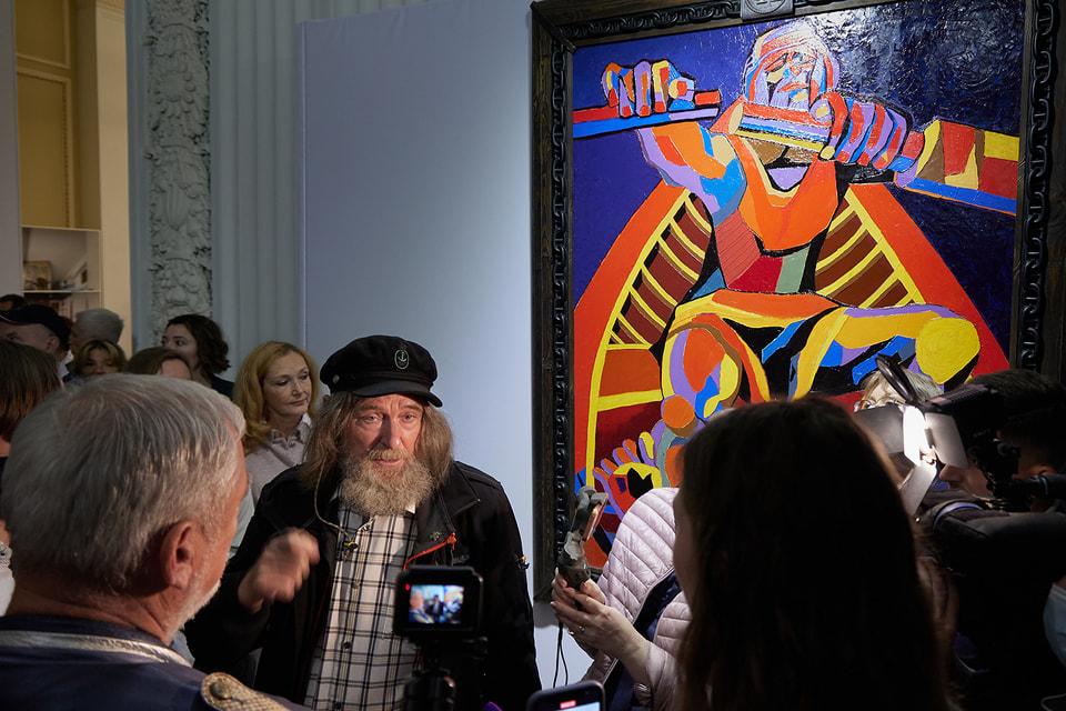 Федор Конюхов на открытии своей выставки