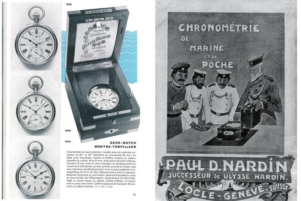 Реклама морских хронометров Ulysse Nardin начала XX века – к этому времени ими комплектовались суда флотов многих мировых стран, включая Россию