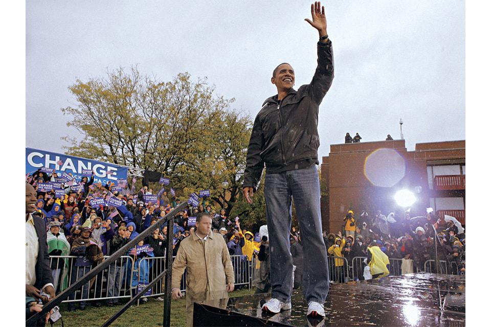 Предвыборная кампания Барака Обамы в «папиных» джинсах в 2008 г.