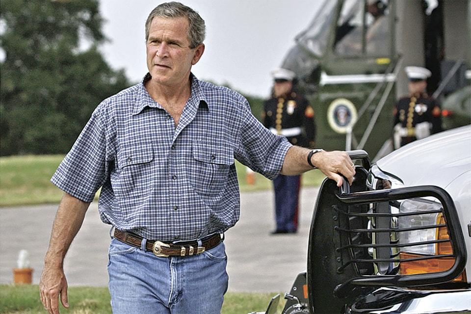 Уроженец Техаса, Джордж Буш-младший знает, как носитьджинсы